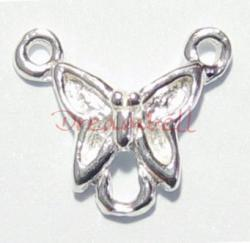 2x Sterling Silver Butterfly Chandelier Pendant Necklace Link Connector Beads