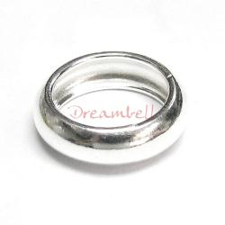 1x STERLING SILVER Wire Bubble Jump Ring Round Connector