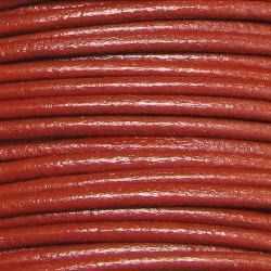 2 YARDs Natural Leather BEAD STRINGING CORD 1mm Red