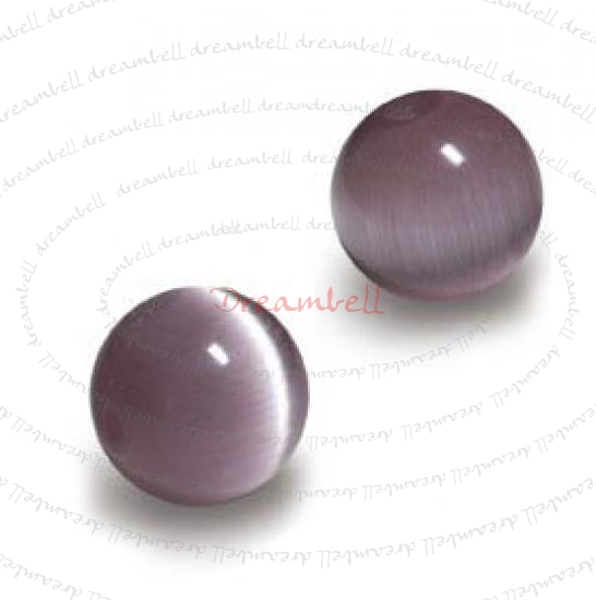 100pcs Grade A Fiber Optic Cats Eye Beads 4mm Round Amethyst