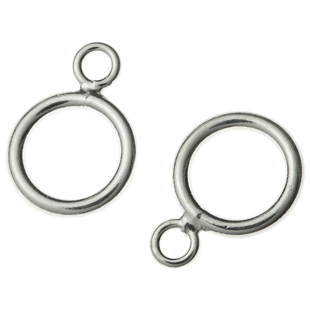 10x Sterling Silver CLOSED DOUBLE Pendant Connector JUMP RING 5mm