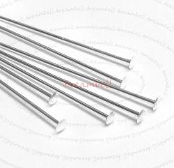 4x Sterling Silver Headpins Head pins 18ga 2""