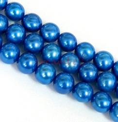 "16"" Fresh Water Pearl Potato Cobalt Blue 5.5mm"