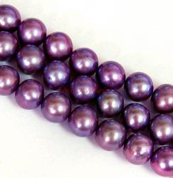 "16"" Fresh Water Pearl Potato Violet 6.5mm"