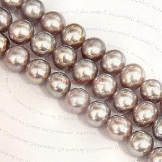 20x Metalic Lilac Round Fresh Water Pearl 5-5.5mm
