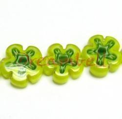 10x Murano JONQUIL flower Lampwork Glass Bead 12.5mm
