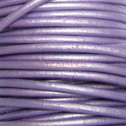 2 YARDS Natural Leather BEAD STRINGING CORD 2mm Metallic Purple (Chandni)