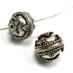 1x Bali Sterling silver Flower Dots  Bead Spacer 12mm