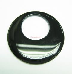 1x Black Agate Round Ring A-Go-go Pendant Focal Bead 50mm