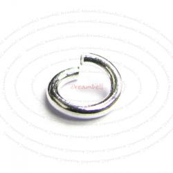 20 x Sterling Silver 20 Gauge (Ga) 4mm Round Twist & Lock Jumplock Open Jump Rings Bead