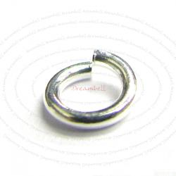 20x Open Jump Rings 925 Sterling Silver Wire 5mm 19GA