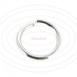 20 pcs  Sterling Silver 18ga Wire 8mm Open Jump Rings round Wire