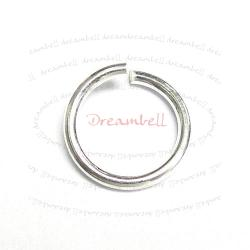 10x Sterling silver Open Jump Rings Bead 18ga 9mm