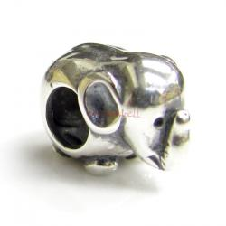 Sterling Silver Elephant for European Bead charm Bracelet
