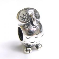 Sterling Silver OWL BIRD for European Charm Bracelets