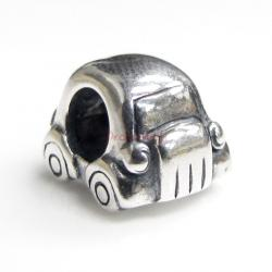 Sterling Silver Beetle Car for European Charm Bracelets