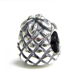 Sterling Silver Pineapple for European Charm Bracelets