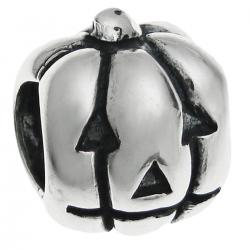 Sterling Silver HALLOWEEN PUMPKIN for European Charm Bracelets