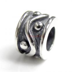 Sterling Silver Dot Wave Bead for European Charm Bracelets