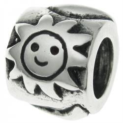 Sterling Silver Sun Moon and Star  Bead for European Charm Bracelets