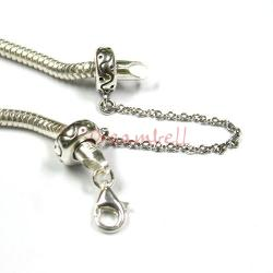 1x Sterling Silver Stopper Safety Chain Bead for European charm Bracelets