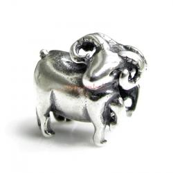 1x Sterling silver Aries Zodiac Bead for European Charm Bracelets