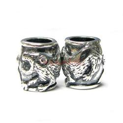 1 x Sterling Silver Tiger Chinese Zodiac Bead for European Charm Bracelets