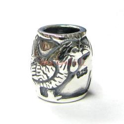 1 x Sterling Silver Rooster Chinese Zodiac Bead for European Charm Bracelets