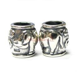 1 x Sterling Silver Pig Chinese Zodiac Bead for European Charm Bracelets