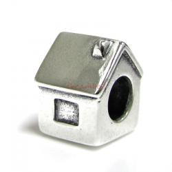 Sterling Silver House Bead for European Charm Bracelets