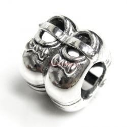 Sterling silver Girl Shoes Bead for European Charm Bracelets