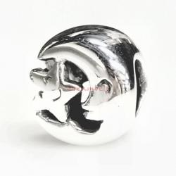 Sterling silver Moon Star Bead for European Charm Bracelets
