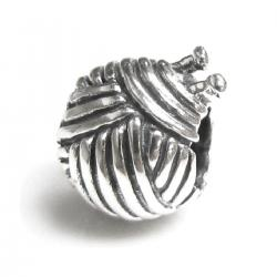 Sterling silver Knitting Wool Ball Bead for European Charm Bracelets