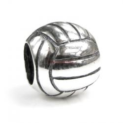 Sterling Silver Volleyball Bead for European Charm Bracelets