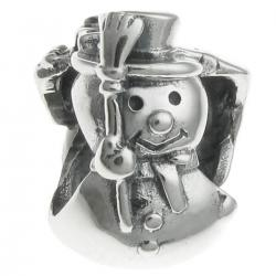 Sterling Silver Christmas SNOWMAN gift box for European Charm Bracelets