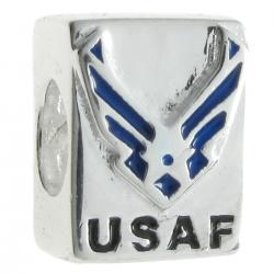 Sterling silver USAF bead for European Charm Bracelets