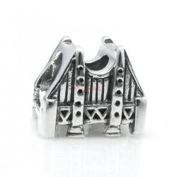 Sterling Silver San Francisco Golden Gate Bridge Bead for European Charm Bracelets