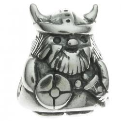 Sterling Silver Viking Warrior Pirate Bead for European Charm Bracelets