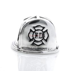1x 925 Sterling Silver Fire Fighter Helmet Bead Fits European Charm Bracelet