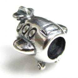 Antique 925 Sterling Silver Flight Plane Airbus Travel European Bead for European Charm Bracelets