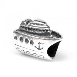 1x Antique 925 Sterling Silver Cruise Ship Travel Vacation Holiday Series Bead for European Charm Bracelets