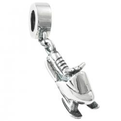 Antique 925 Sterling Silver Winter Snowmobile Motorbike Dangle Bead for European Charm Bracelets