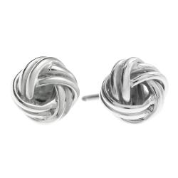 2x 925 Sterling Silver True Lover's Knot Charm Stud Post Earring