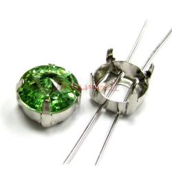 6x SWAROVSKI  CRYSTAL 4 hole Sew on Setting 12mm