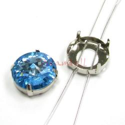 6x  SWAROVSKI  CRYSTAL 1122  4 hole Sew on  Setting 18mm