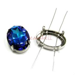 4x SWAROVSKI CRYSTAL 4127 4 hole Sew on Setting 30mm