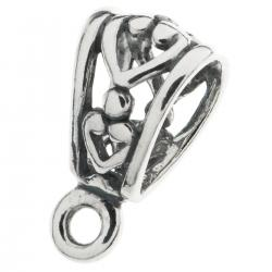 1x STERLING SILVER HEART Bail CLASP Pendant Connector