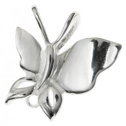 1x Sterling SILVER BAIL CLASP BUTTERFLY PENDANT RING CONNECTOR