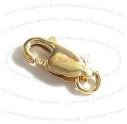 1X 14k gold filled LOBSTER CLASP BEAD OPEN JUMP RING 8mm