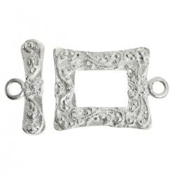 1x Luxury Sterling Silver Toggle Clasp 14mm